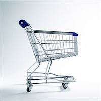 empty shopping cart - Shopping cart Stock Photo - Premium Royalty-Freenull, Code: 695-05778759