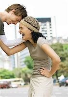 Young couple laughing Stock Photo - Premium Royalty-Freenull, Code: 695-05778868