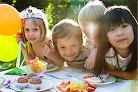Children at birthday party Stock Photo - Premium Royalty-Freenull, Code: 695-05779987