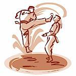 Karate match Stock Photo - Premium Royalty-Free, Artist: Aflo Sport               , Code: 695-05780420