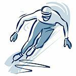Ice skater Stock Photo - Premium Royalty-Free, Artist: Minden Pictures, Code: 695-05780445
