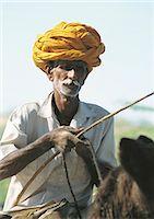 India, Rajasthan, man and donkey Stock Photo - Premium Royalty-Freenull, Code: 696-05780908