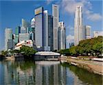The city of Singapore seen from the mouth of the Singapore River, Singapore, Southeast Asia, Asia Stock Photo - Premium Rights-Managed, Artist: Robert Harding Images, Code: 841-05781163