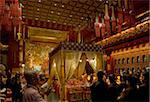 Chanting in the Hundred Dragons hall in the Buddha Tooth Relic temple in Singapore, Southeast Asia, Asia Stock Photo - Premium Rights-Managed, Artist: Robert Harding Images, Code: 841-05781164