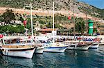 Harbour at Kalkan, a popular tourist resort, Antalya Province, Turkey, Asia Minor, Eurasia Stock Photo - Premium Rights-Managed, Artist: Robert Harding Images, Code: 841-05781967