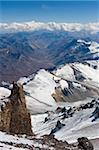 View from Aconcagua 6962m, highest peak in South America, Aconcagua Provincial Park, Andes mountains, Argentina, South America Stock Photo - Premium Rights-Managed, Artist: Robert Harding Images, Code: 841-05782781