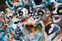 Masked performers in a parade at Oruro Carnival, Oruro, Bolivia, South America Stock Photo - Premium Rights-Managednull, Code: 841-05782819
