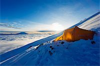 Tent on Volcan Cotopaxi, 5897m, highest active volcano in the world, Ecuador, South America Stock Photo - Premium Rights-Managednull, Code: 841-05782857