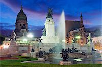 Monumento a los dos Congresos, Palacio del Congreso (National Congress Building), Plaza del Congreso, Buenos Aires, Argentina, South America Stock Photo - Premium Rights-Managednull, Code: 841-05782942