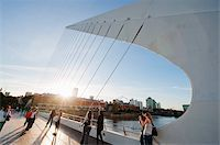 people in argentina - Puente de la Mujer, Buenos Aires, Argentina, South America Stock Photo - Premium Rights-Managednull, Code: 841-05782958