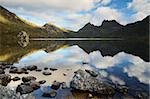Cradle Mountain and Dove Lake, Cradle Mountain-Lake St. Clair National Park, UNESCO World Heritage Site, Tasmania, Australia, Pacific Stock Photo - Premium Rights-Managed, Artist: Robert Harding Images, Code: 841-05783509