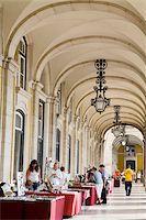 Colonnade in Praca do Comercio, Baixa District, Lisbon, Portugal, Europe Stock Photo - Premium Rights-Managednull, Code: 841-05784336