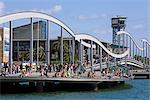 Rambla del Mar Bridge in Port Vell District, Barcelona, Catalonia, Spain, Europe Stock Photo - Premium Rights-Managed, Artist: Robert Harding Images, Code: 841-05784444