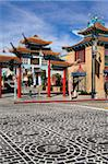 Central Plaza East Gate in Chinatown, Los Angeles, California, United States of America, North America Stock Photo - Premium Rights-Managed, Artist: Robert Harding Images, Code: 841-05784539