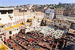 Tannery, Fez, UNESCO World Heritage Site, Morocco, North Africa, Africa Stock Photo - Premium Rights-Managed, Artist: Robert Harding Images, Code: 841-05784665