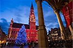 City Hall, Grand Place, UNESCO World Heritage Site, at Christmas time, Brussels, Belgium, Europe Stock Photo - Premium Rights-Managed, Artist: Robert Harding Images, Code: 841-05784753