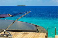 View from watervilla, Maldives, Indian Ocean, Asia Stock Photo - Premium Rights-Managednull, Code: 841-05784852
