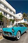 Classic antique Thunderbird, Art Deco District, South Beach, Miami, Florida, United States of America, North America Stock Photo - Premium Rights-Managed, Artist: Robert Harding Images, Code: 841-05785438