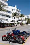 Motorcycles, Art Deco District, South Beach, Miami, Florida, United States of America, North America Stock Photo - Premium Rights-Managed, Artist: Robert Harding Images, Code: 841-05785440