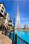 Burj Khalifa, the tallest man made structure in the world at 828 metres, and Dubai Mall, Downtown Dubai, Dubai, United Arab Emirates, Middle East Stock Photo - Premium Rights-Managed, Artist: Robert Harding Images, Code: 841-05785674