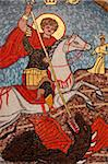 Mosaic of St. George slaying the dragon in St. George Coptic Orthodox church, Cairo, Egypt, North Africa, Africa Stock Photo - Premium Rights-Managed, Artist: Robert Harding Images, Code: 841-05785887