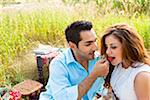 Couple having Picnic, Unionville, Ontario, Canada Stock Photo - Premium Royalty-Free, Artist: Ikonica, Code: 600-05786066