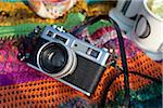 Camera on Picnic Blanket Stock Photo - Premium Royalty-Free, Artist: Ikonica, Code: 600-05786069