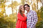 Portrait of Young Couple in Park Stock Photo - Premium Royalty-Free, Artist: Ikonica, Code: 600-05786179