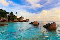 paradise (place of bliss) - Granite Rock Formations, Anse Source d'Argent, La Digue, Seychelles Stock Photo - Premium Royalty-Freenull, Code: 600-05786192