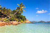 seychelles - Shoreline at Anse Severe, La Digue, Seychelles Stock Photo - Premium Royalty-Freenull, Code: 600-05786203
