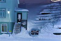 small town snow - Winter Scene, Akureyri, Iceland Stock Photo - Premium Rights-Managednull, Code: 700-05786291