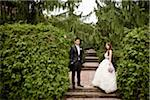 Bride and Groom Outdoors Stock Photo - Premium Rights-Managed, Artist: Ikonica, Code: 700-05786431