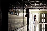Bride and Groom Kissing Stock Photo - Premium Rights-Managednull, Code: 700-05786442