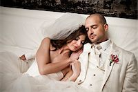 Bride and Groom Cuddling Stock Photo - Premium Rights-Managednull, Code: 700-05786475