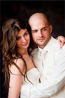 Portrait of Bride and Groom Stock Photo - Premium Rights-Managednull, Code: 700-05786481