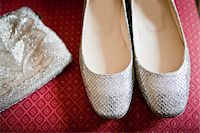 Close-Up of Silver Shoes and Purse Stock Photo - Premium Rights-Managednull, Code: 700-05786584