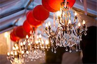 Chandeliers and Paper Lanterns Stock Photo - Premium Royalty-Freenull, Code: 600-05786642