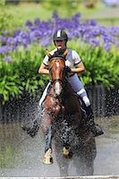 equestrian - Horse Rider Crossing Water, Equestrian Event Stock Photo - Premium Royalty-Freenull, Code: 622-05786735