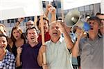 a protesting group of people in the street Stock Photo - Premium Royalty-Free, Artist: CulturaRM, Code: 6106-05787312