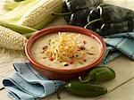 Roasted corn and chicken chowder Stock Photo - Premium Royalty-Free, Artist: foodanddrinkphotos, Code: 6106-05787652