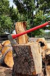 Axe in log stump Stock Photo - Premium Royalty-Free, Artist: Ron Fehling, Code: 693-05794374