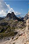 Locatelli refuge on the Tre cime di Lavaredo walk, Dolomites, eastern Alps, South Tyrol, Bolzano province, Italy, Europe Stock Photo - Premium Rights-Managed, Artist: Robert Harding Images, Code: 841-05795193
