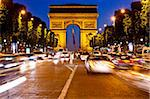Arc de Triomphe and Champs-Elysees at night, Paris, France, Europe Stock Photo - Premium Rights-Managed, Artist: Robert Harding Images, Code: 841-05795293