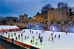 Winter ice skating, Tower of London, London, England, United Kingdom, Europe Stock Photo - Premium Rights-Managed, Artist: Robert Harding Images, Code: 841-05795512