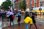 Shoppers in the rain, Oxford Street, London, England, United Kingdom, Europe Stock Photo - Premium Rights-Managed, Artist: Robert Harding Images, Code: 841-05795586