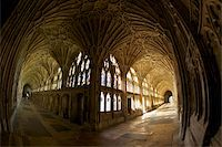 14th century fan vaulting in the Great Cloisters, Gloucester Cathedral, Gloucester, Gloucestershire, England, United Kingdom, Europe Stock Photo - Premium Rights-Managednull, Code: 841-05796013