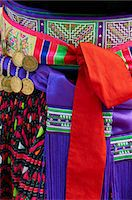 Detail of traditional dress of Hmong woman, Lao New Year Festival, Luang Prabang, Laos, Indochina, Southeast Asia, Asia Stock Photo - Premium Rights-Managednull, Code: 841-05796421