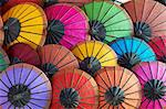 Handmade paper umbrellas in the night market, Luang Prabang, Laos, Indochina, Southeast Asia, Asia Stock Photo - Premium Rights-Managed, Artist: Robert Harding Images, Code: 841-05796436