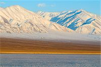snow capped - Winter landscape in Biosphere reserve with snow covered mountains, Lake Khar Us Nuur, Province of Khovd, Mongolia, Central Asia, Asia Stock Photo - Premium Rights-Managednull, Code: 841-05796503