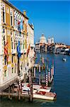 The Grand Canal and the Church of Santa Maria della Salute in the distance, viewed from the Academia Bridge, Venice, UNESCO World Heritage Site, Veneto, Italy, Europe Stock Photo - Premium Rights-Managed, Artist: Robert Harding Images, Code: 841-05796704